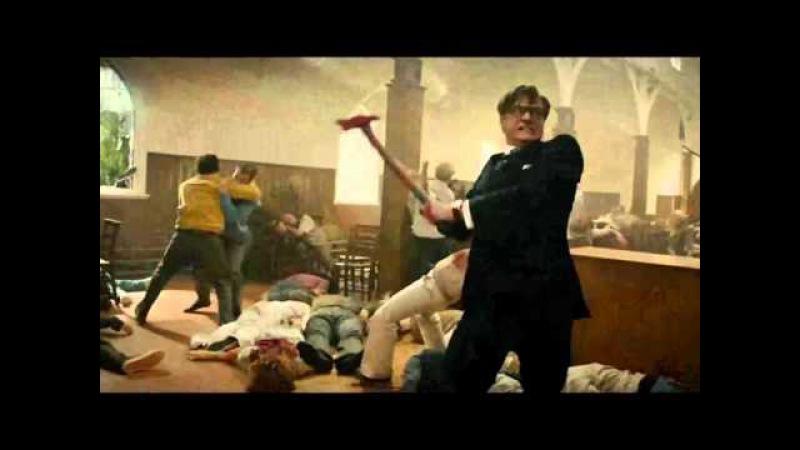 Kingsman сцена в церкви (Prodigy - Omen)