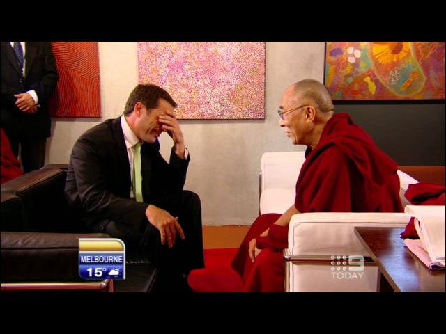 Karl tells the Dalai Lama a joke and it fails miserably