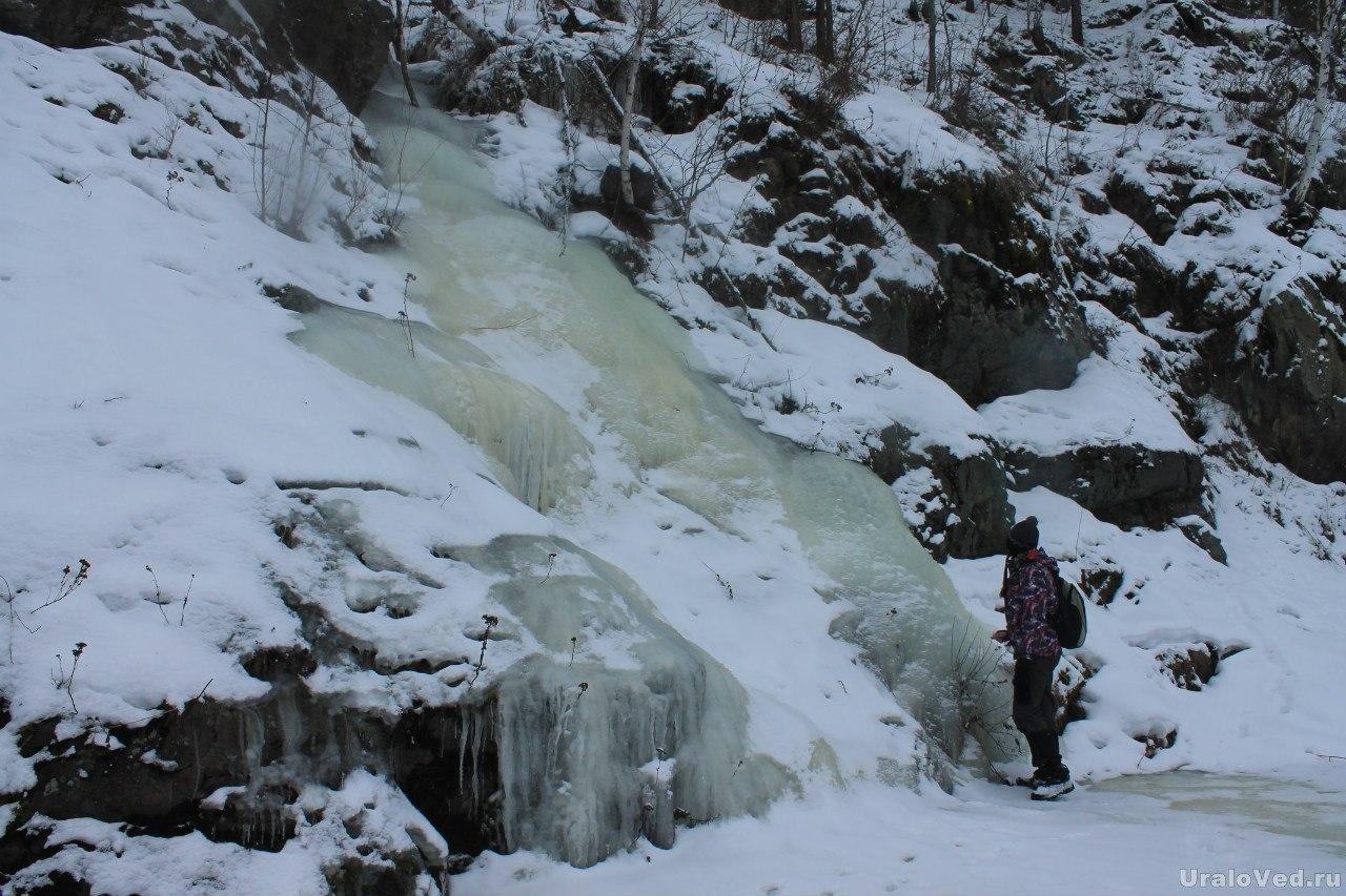 Ледяной водопад на Багаряке