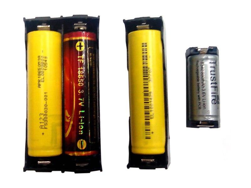 Батарейные отсеки под распайку.