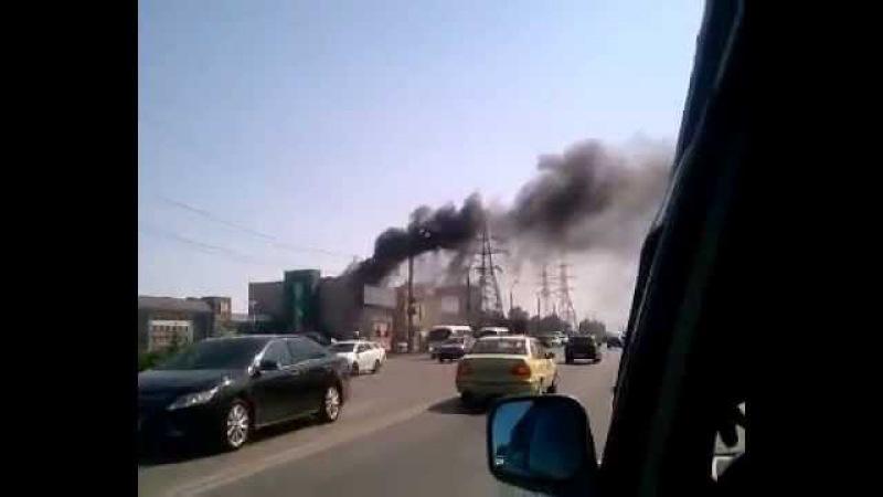 Пожар на Московском шоссе Интермебель Самара 21 06 2015