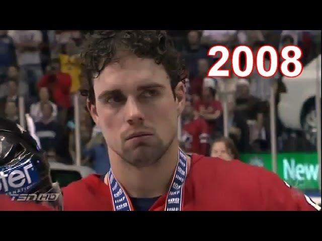 Канадцы слушают гимн России - 2008 ЧМ по хоккею