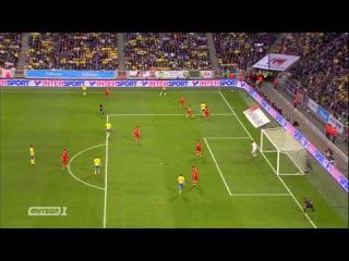 Шикарный гол Ибрагимовича в ворота сборной Черногории
