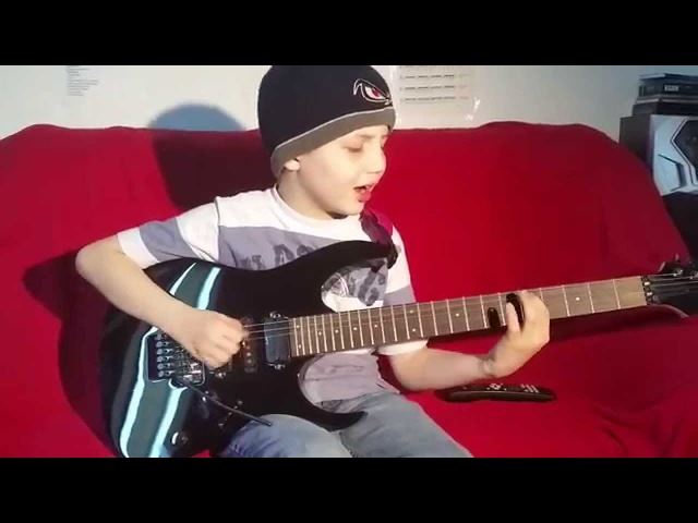 Dustin Tomsen 9 years old covers Gary Moore The Loner