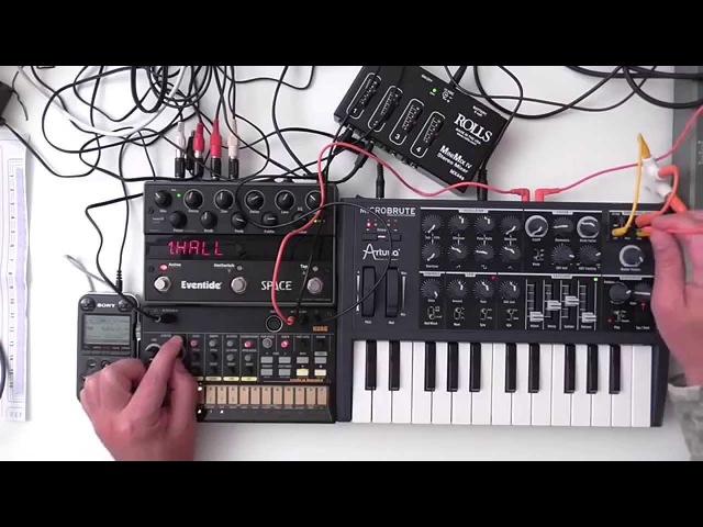 MicroBrute / Volca Beats - Minimal Bass Jam ( Shadows )