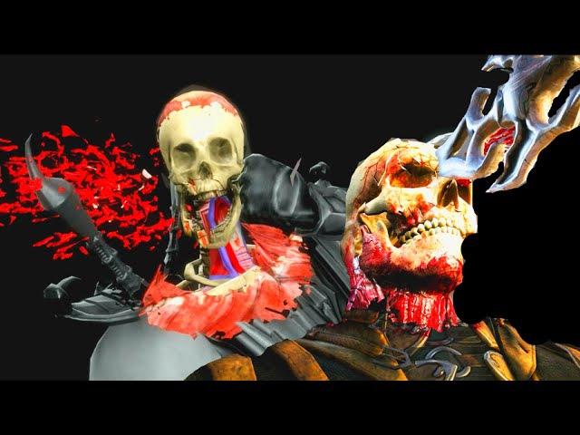 Mortal Kombat IX X All X-Rays PC 60FPS 1080p
