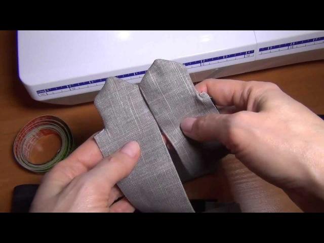 Как шить брюки: простой пояс
