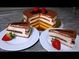 Торт Тирамису, выпечка, торты, кулинария, домашние рецепты