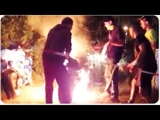 Motorcycle Show Off Causes Several Fires | Smokey's Revenge
