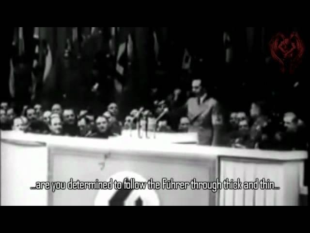 Wollt ihr den totalen Krieg? TOTAL WAR speech by Joseph Goebbels