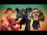 ДРЕД И СОЛО: Как убить Рошана Линой и Лионом   Dread Solo Lion Lina Roshan Dota 2