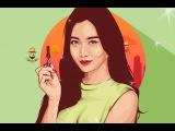 Vector Vexel Photoshop Tutorial  - Yura Girl's Day (Time Lapse)