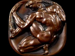 Nude Male Medallic Art