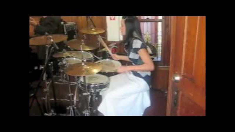 Lady drummer Didi Negron from Namm 2010