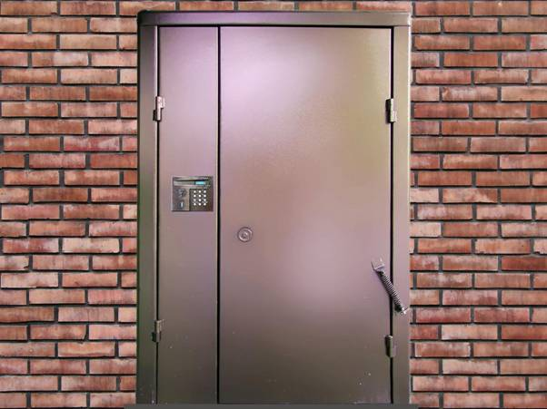 Установка дверей в подъездах
