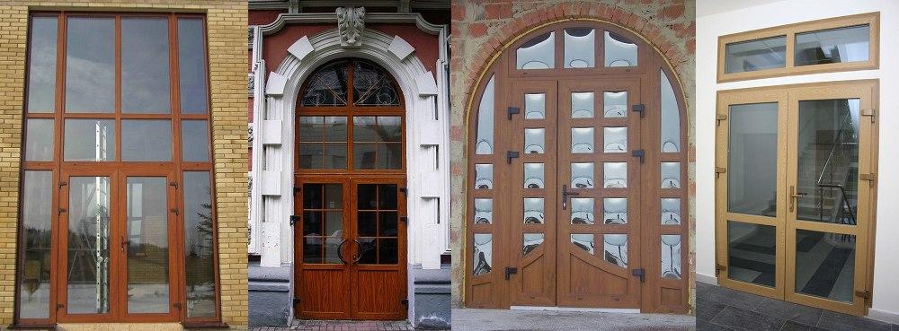 Установка металлопластиковых дверей в подъездах