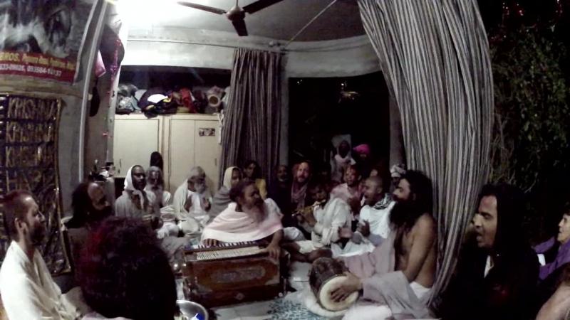 Vinod Bihari Das Babaji kirtan, Barsana, march 2015
