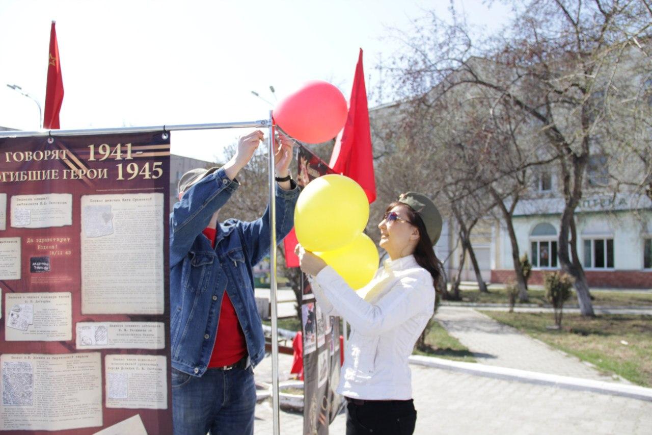 Украшаем выставку воздушными шарами