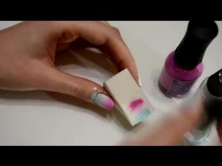 Как сделать маникюр -Градиент- в домашних условиях- (Gradient Nails) (tuvideo.matiasmx.com)
