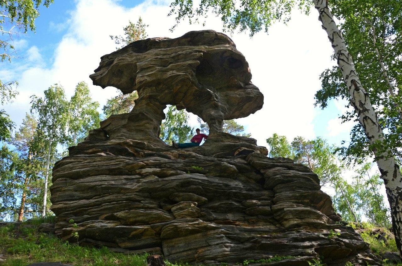 Скала Дракон в окрестностях горы Теплая, Слюдорудник (20.12.2015)