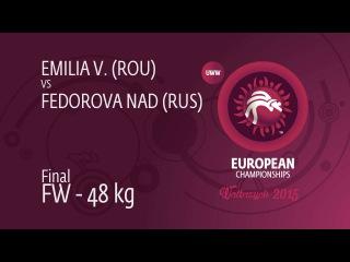 GOLD FW - 48 kg: FEDOROVA Nadezhda (RUS) df. VUC Alina Emilia (ROU), 8-4