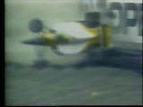 Ayrton Senna flips at the Peraltada Bend in Mexico City
