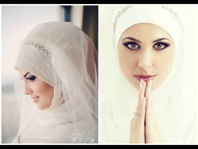 Simple Bridal Hijab Tutorial