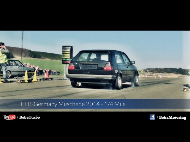 VW Golf Mk2 AWD 1150HP 1/4 Mile Meschede 2014 from Boba-Motoring