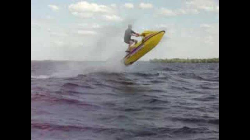 Seadoo Xp Wave Jumping on Lake Simcoe