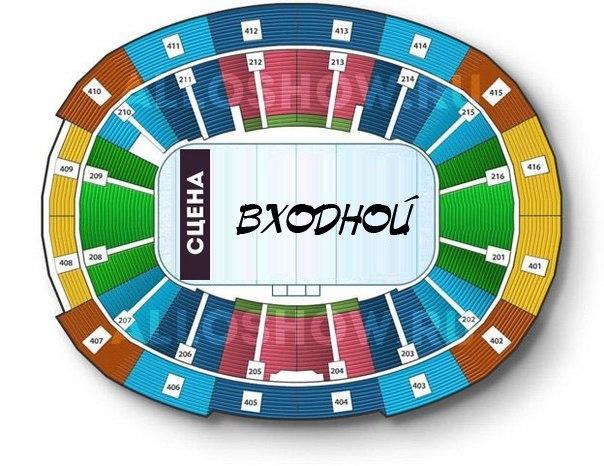 Схема концертной площадки.