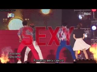 「рус.саб 」 [Infinite Challenge] - Dancing Genome (Ю Дже Сок + Пак Чжин Ён) - I'm So Sexy