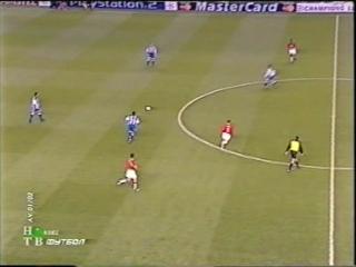 ЛЧ 2001-02. 1-4 финала. Ответный матч. Манчестер Юнайтед - Депортиво 1 часть