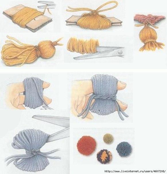 Как из пряжи сделать помпон для шапки из пряжи