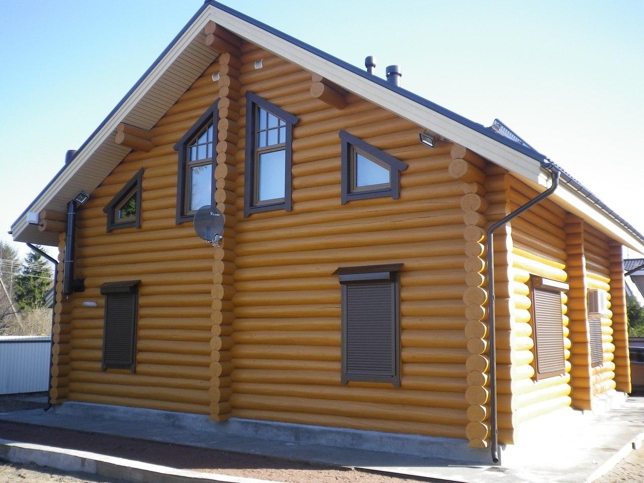 срубы домов из бревна под ключ цена фото