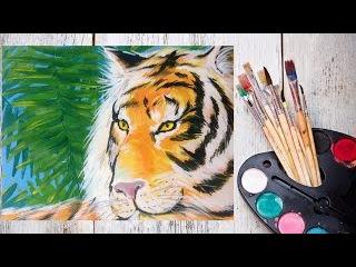 Как нарисовать тигра гуашью? #Dari_Art