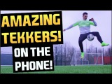 Amazing Skills While On The Phone | F2Freestylers | Top Eleven 2015