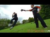 Scott Adkins and Ginger Ninja Trickster