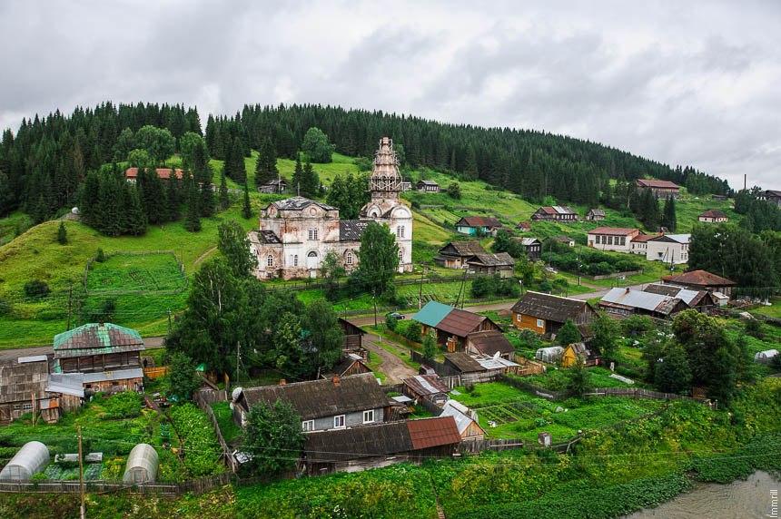 Вид со скал на село Кын (Кын-завод)