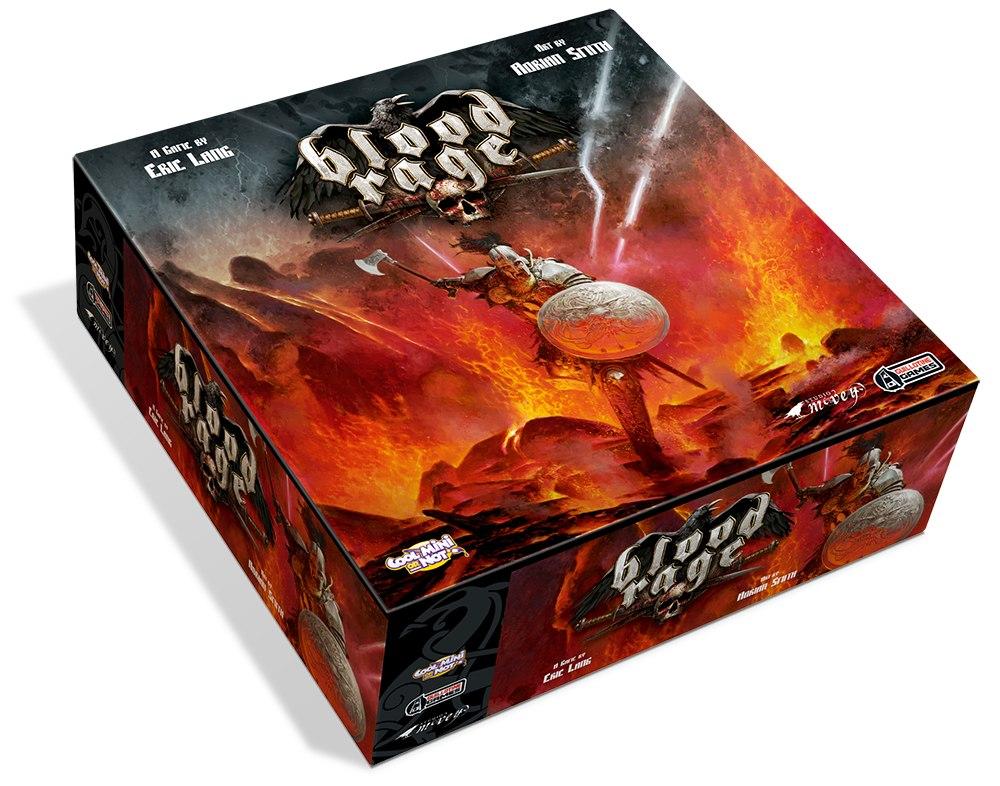 Настольная игра «Blood Rage». Так будет выглядеть коробка с игрой.