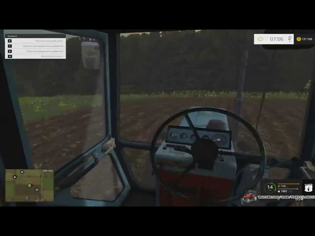 Рабочие будни 4 день. Работаю на МТЗ-80.Удобряю поле под посадку картофеля.Farming Simulator 2015