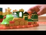 Мультфильм поезд динозавров для малышей - геометрические фигуры, цвета и цифры с Ти-Рексом Бадди