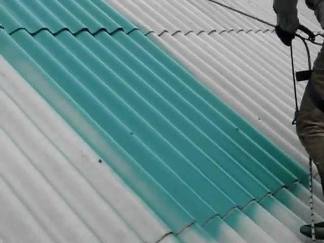 Покраска шифера (первый слой) www.shifer.by