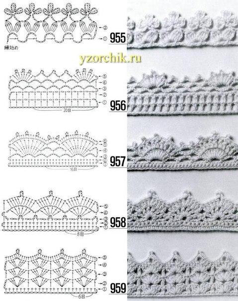 Интересные схемы кружевной