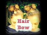 DIY  HAIR BOW - medium long hair tutorial