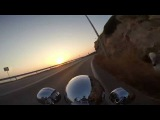 Sunset Ride with a Harley @ Temple of Poseidon (Evo Sound) GoPro Hero 3+ Black