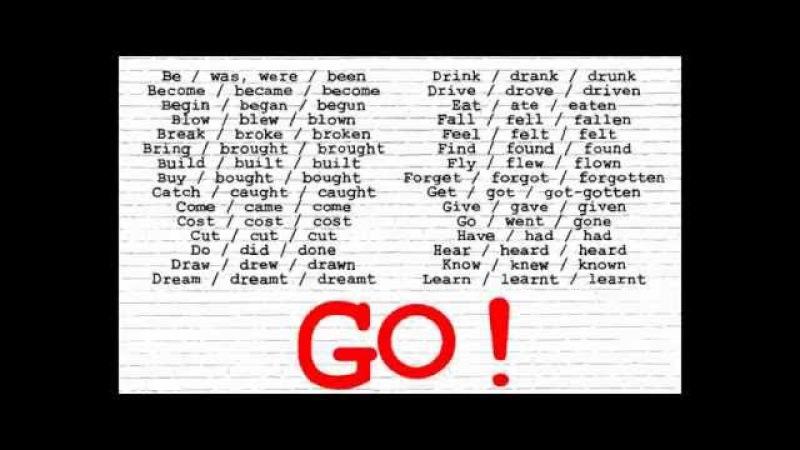 Irregular Verbs Song I (Christen's voice)