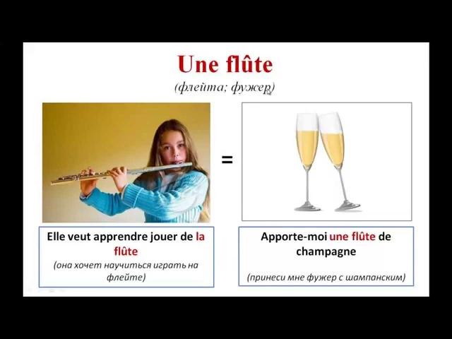 Уроки французского 75 Слова-омонимы во французском языке! Les homonyms français. Новая лексика!
