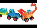 Мультфильм про Рабочие МашинкиЭкскаватор-погрузчик,трактор,самосвал.Развивающие мультики для детей.