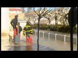 La riada entra en Aragón con fuerza tras anegar 20.000 hectáreas en Navarra