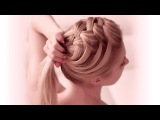 Criss cross waterfall braid hairstyle for everyday ✿ Medium/long hair tutorial